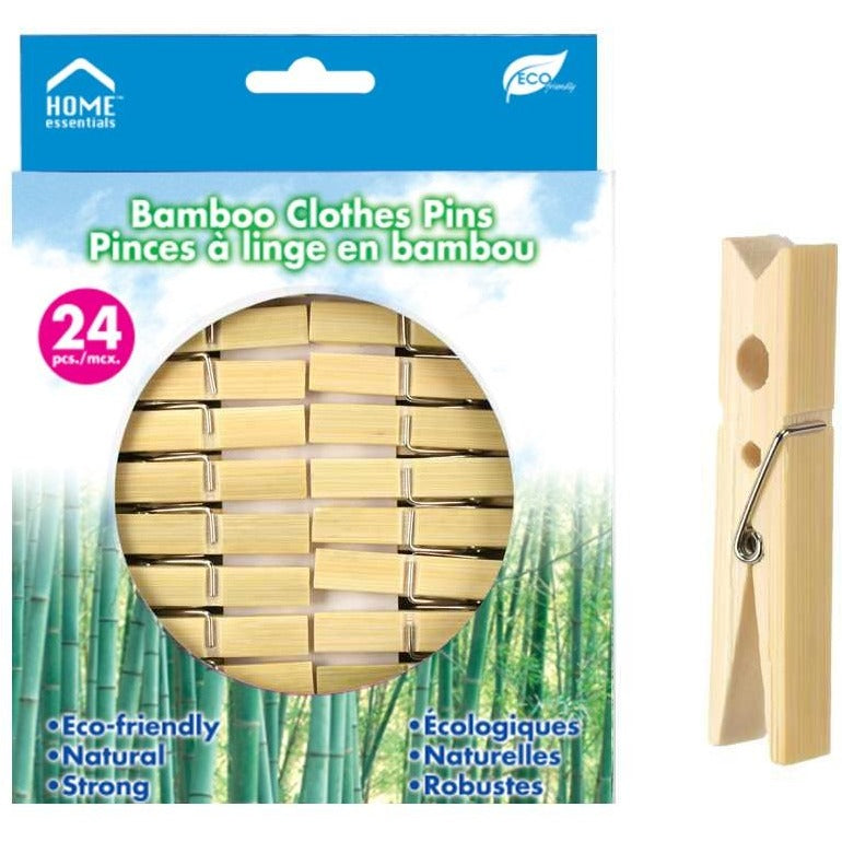 24-pc Bamboo Clothes Pins