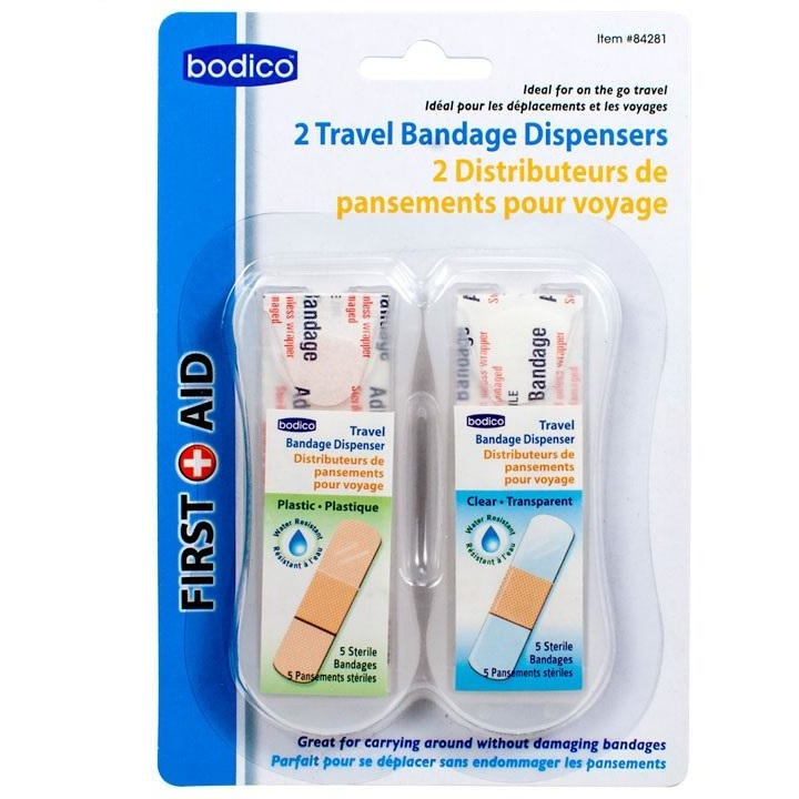 Bandages with Travel Dispensers