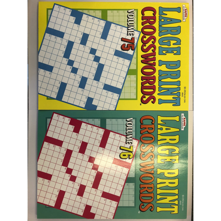 Large Print Crosswords - 2 Assorted