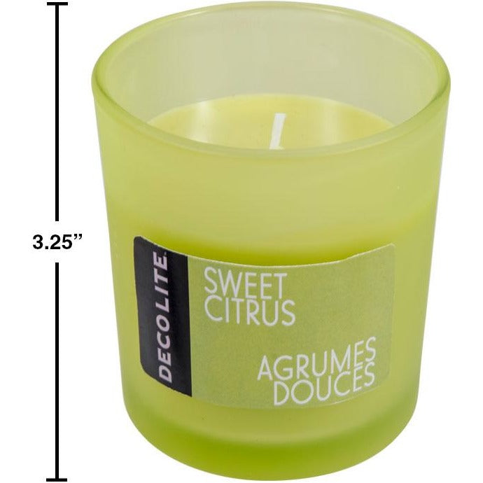 Scented Jar Candles - Sweet Citrus, 4.5oz