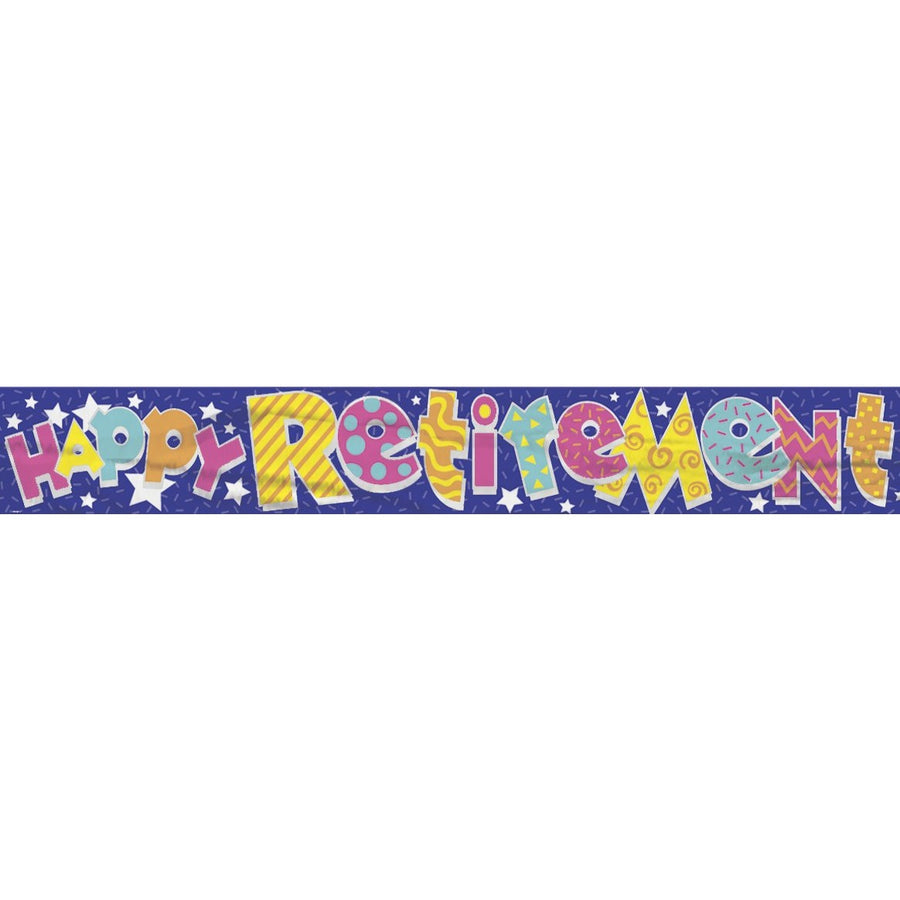 """Happy Retirement"" Banner"