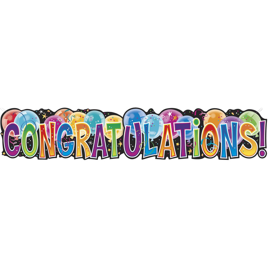 """Congratulations"" Giant Jointed Banner"