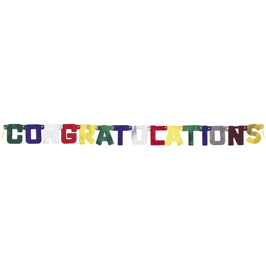 """Congratulations"" Deluxe Jointed Banner"