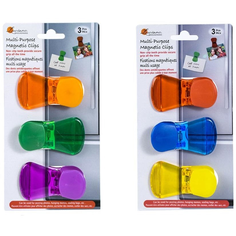 Multi-Purpose Magnetic Clips, 3/pk