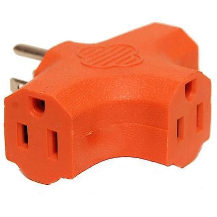 Grounded 3-Outlet Adapter