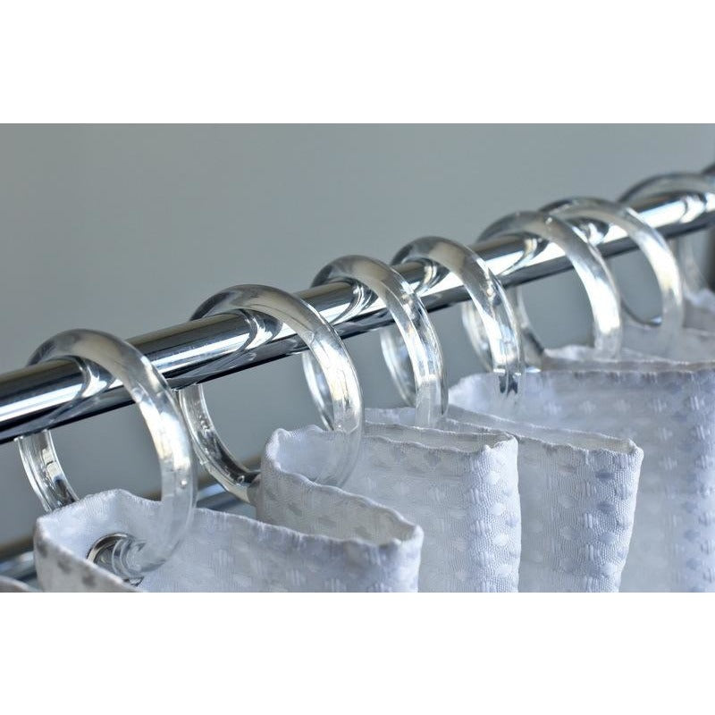 Shower Curtain Ring, Clear 12/pk