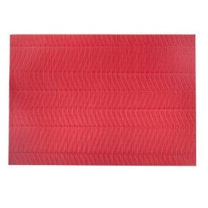Non-Slip Vinyl Placemat - Red