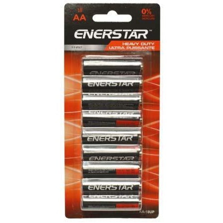 Value Pack Battery Enerstar Heavy Duty - AA, 18/pk