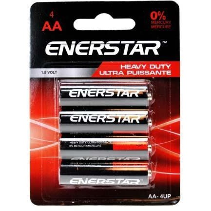 Battery Enerstar Heavy Duty - AA, 4/pk
