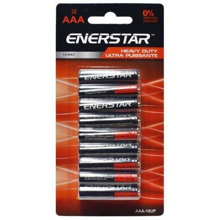 Value Pack Battery Enerstar Heavy Duty - AAA, 18/pk