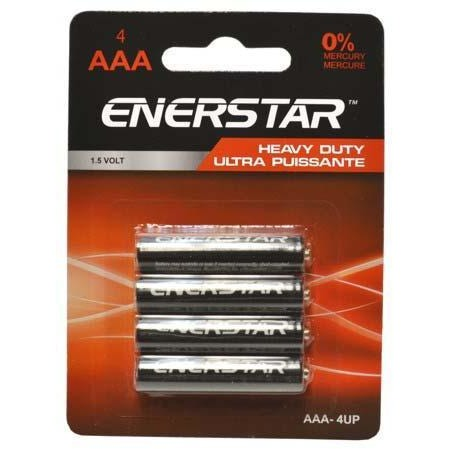 Battery Enerstar Heavy Duty - AAA, 4/pk