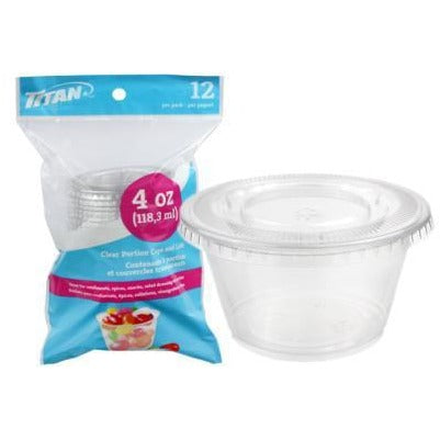 Clear Portion Cups with Lids, 4 oz 12/pk