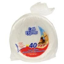 "Value Pack 9"" Foam Plates, 40/pk"