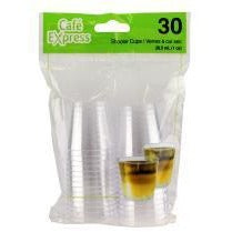1oz Plastic Shooter Cups - Clear, 30/pk