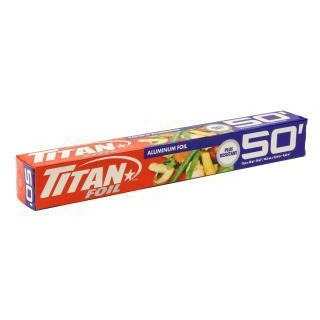 Titan Heavy Duty Aluminum Foil Sheets Roll 50ft Long