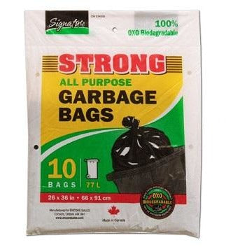 Black All Purpose Outdoor Garbage Bags, 10/pk
