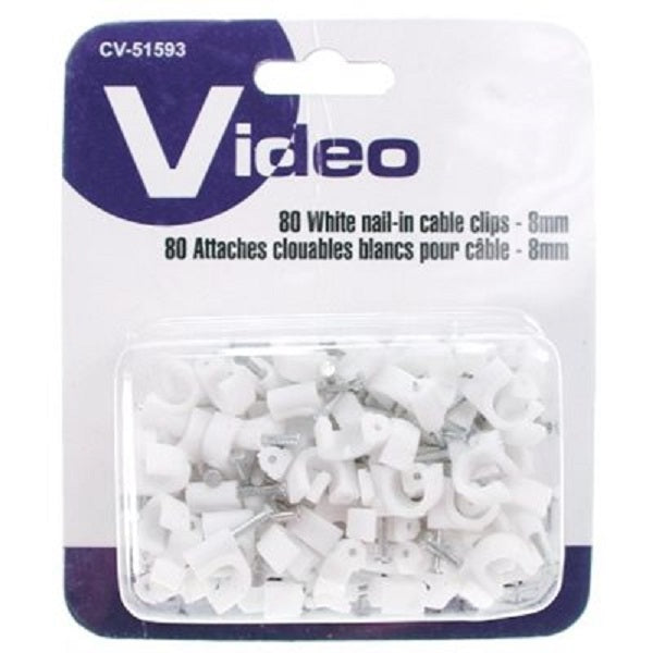 Cable Clips 8mm, 80/pk