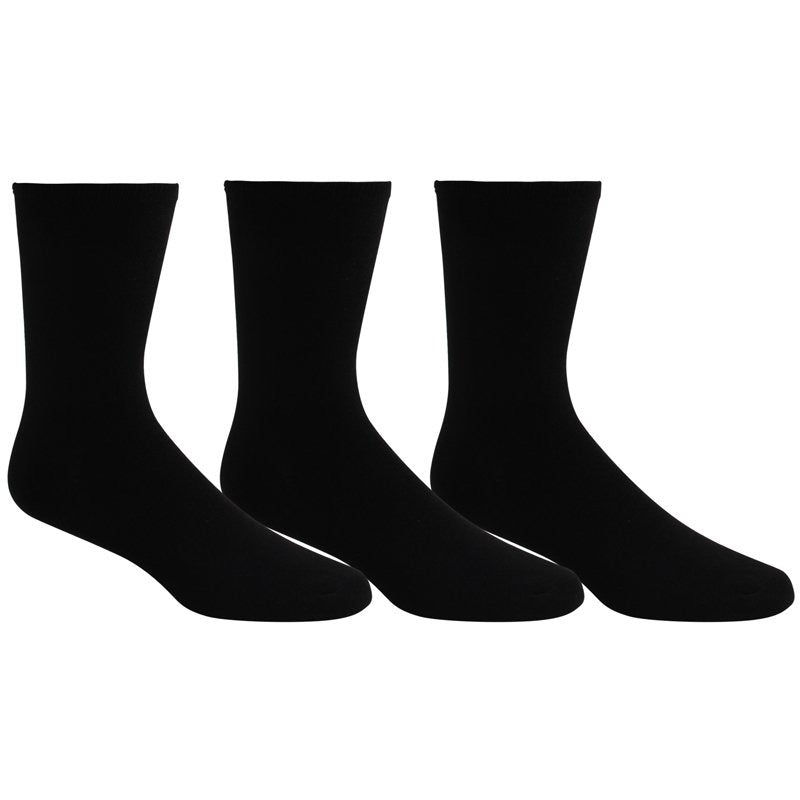 3Pk Men's Socks, Black