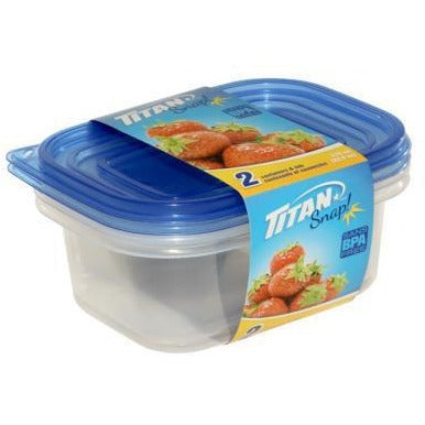 Snap Small Rectangular Food Containers 670ml, 2/pk