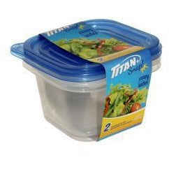 Snap Tall Square Food Containers 900ml, 2/pk