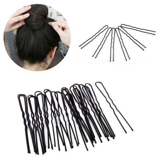Salon U Shape Bobby Pins, Black 80/pk