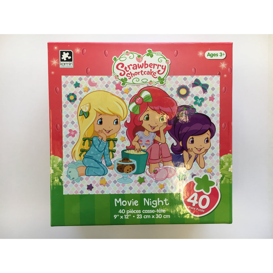 Jigsaw Puzzle 100 Pieces - Strawberry Short Cake Movie Night