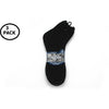 3Pk Men's 10-13 Ankle Socks, Black