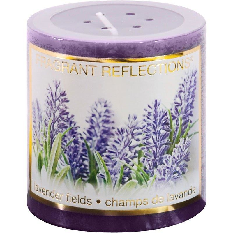 "Pillar Candle - Lavender Fields, 3"" tall"