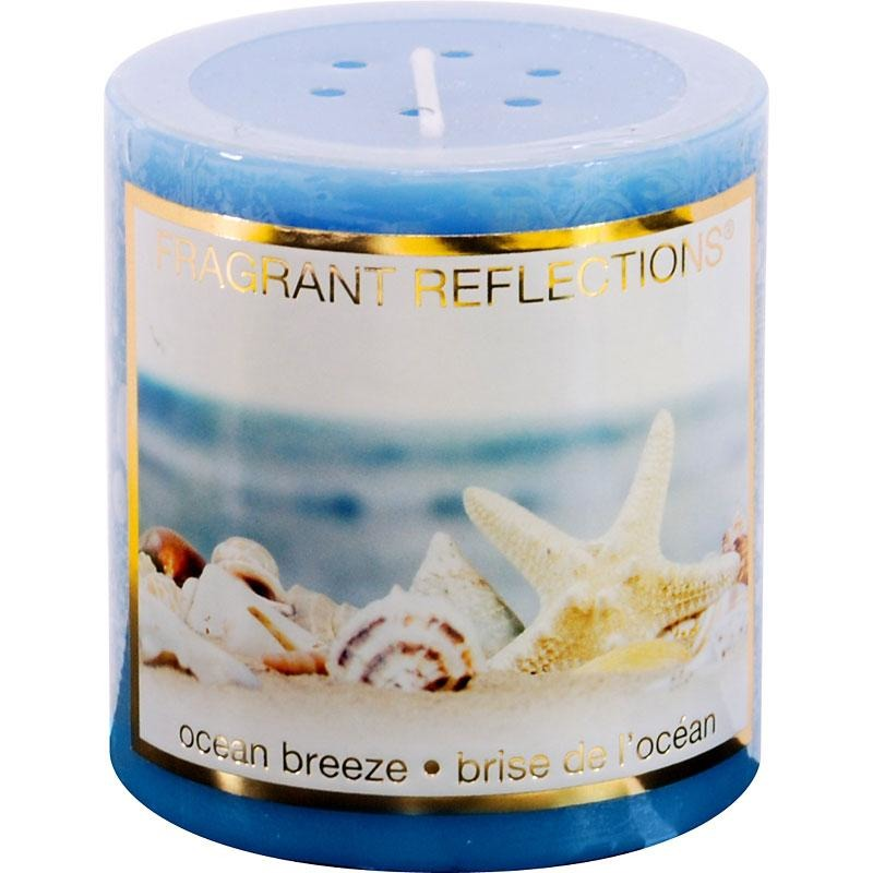 "Pillar Candle - Ocean Breeze, 3"" tall"