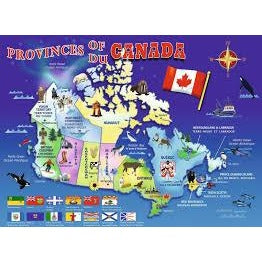 Jigsaw Puzzle 48 Jumbo Pieces - Map of Canada