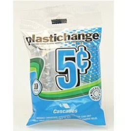 Plastic Change Coin Rollers 5-Cent, 10 rolls/pk