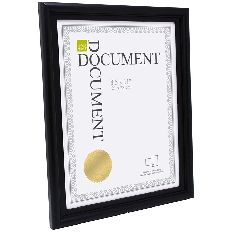 "Document Frame, 8.5""x 11"",  Black"
