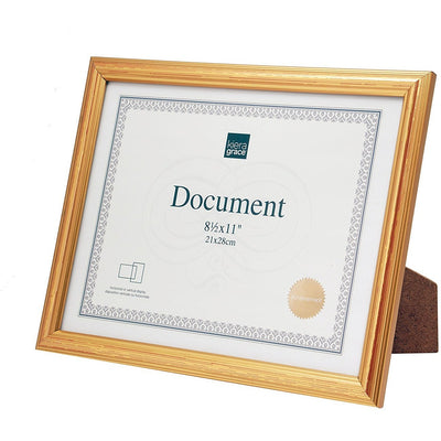 Document Frame 85x 11 Antique Gold Super Fun Mart