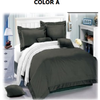 3Pcs Reversible Solid Quilt Set - King