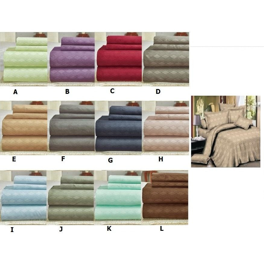 Bamboo Comfort Plus Sheet Set 2400 Series - 4Pc - Queen
