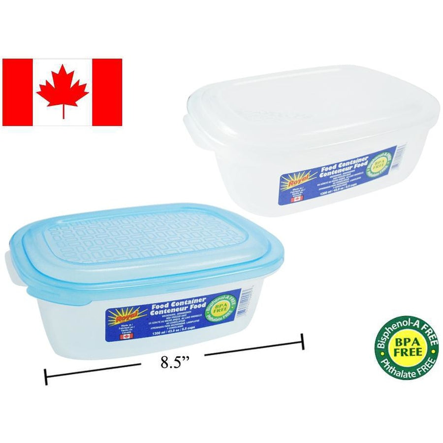 Food Container, Rectangular, 1300ml