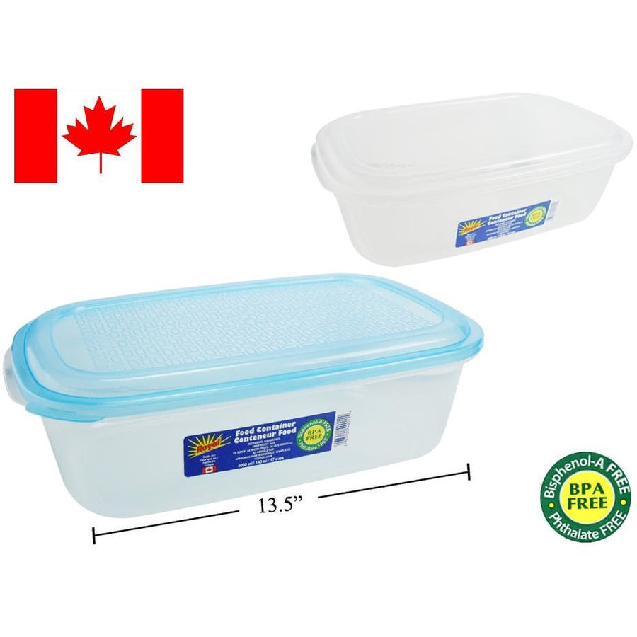Food Container, Rectangular, 4000ml