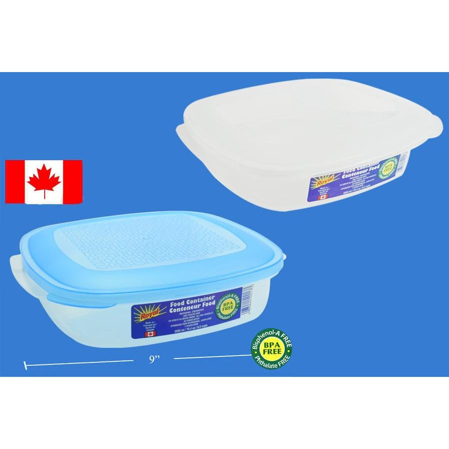 Food Container, Square, 2000ml