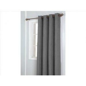 Window Curtain Faux Suede with 8 Grommets - Gray