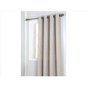 Window Curtain Faux Suede with 8 Grommets - Taupe