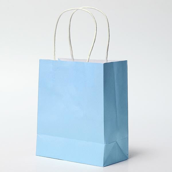 "Paper Favor Bags 8"" x 10"" - Light Blue, 4/pack"