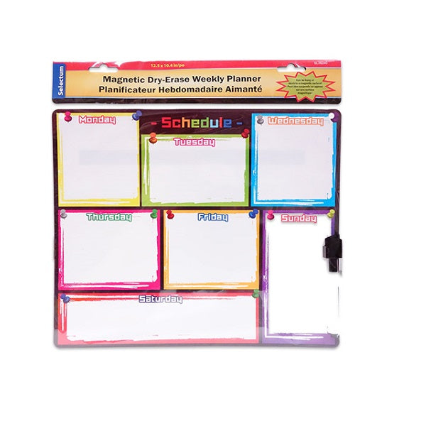 Magnetic Dry-Erase Weekly Planner