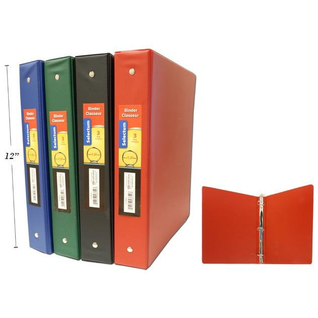"1.5"" Hard Cover Vinyl Binder with Pockets"