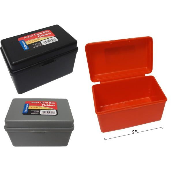 Plastic Index Card Box