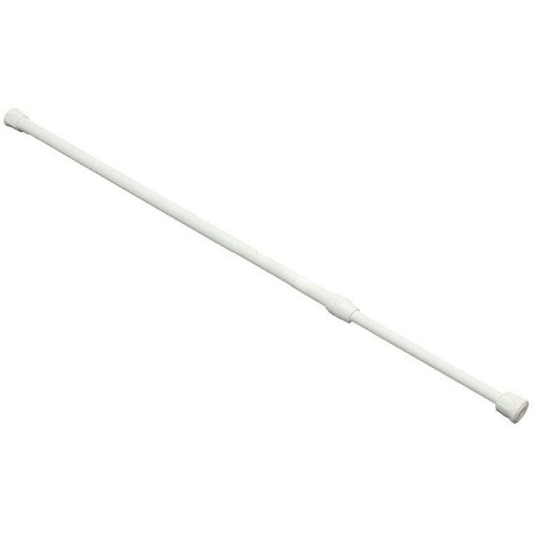 Adjustable Curtain Rod, White