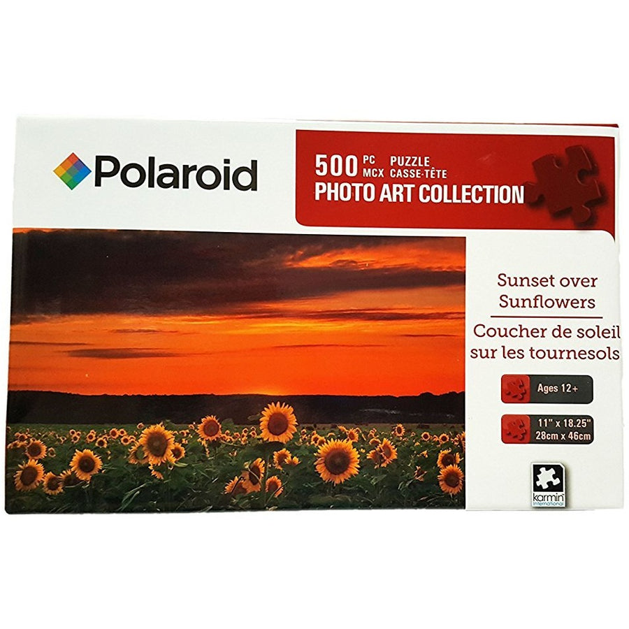 Jigsaw Puzzle 500 Pieces - Sunset Over Sunflowers