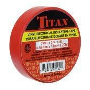 TITAN Vinyl Electrical Insulating Tape 18mm x 20m - Red