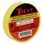 TITAN Vinyl Electrical Insulating Tape 18mm x 20m - Yellow