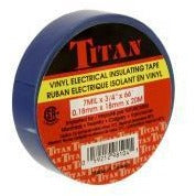 TITAN Vinyl Electrical Insulating Tape 18mm x 20m - Blue