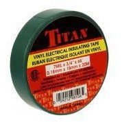 TITAN Vinyl Electrical Insulating Tape 18mm x 20m - Green